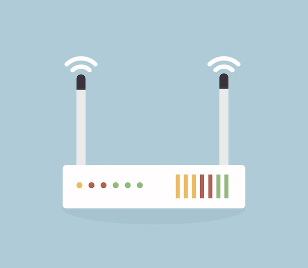 Vector wireless network router icon.