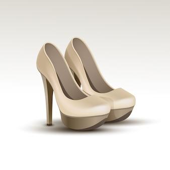 Вектор женщина модная обувь на высоких каблуках