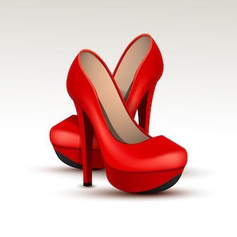 하이 힐에 벡터 여자 패션 신발