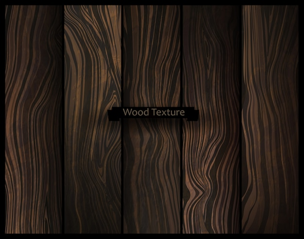 Vector wood texture. natural dark wooden background.