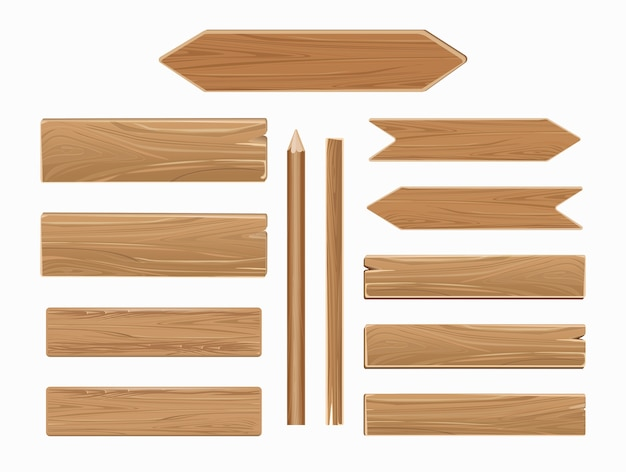 Vector wooden planks isolated