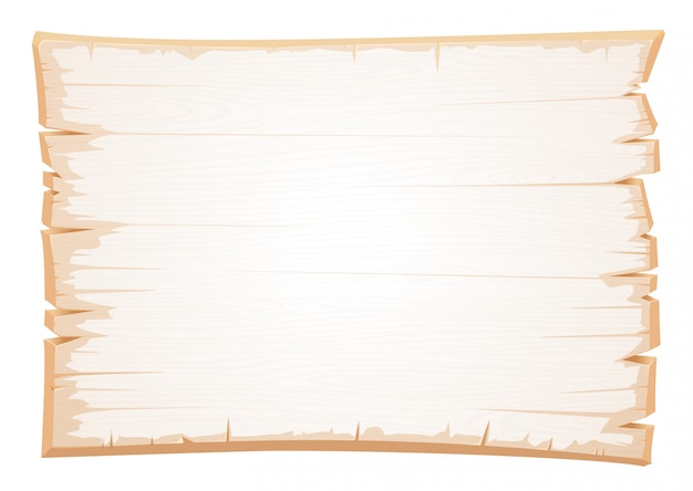 Vector wooden white texture. old board of shabby wood.