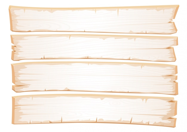 Vector wooden white texture. old planks of shabby wood.