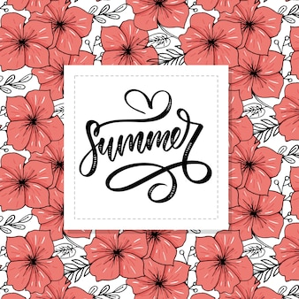Vector word sale .letters made of flowers and leaves summer sale holiday