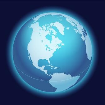 Векторная карта мира глобус