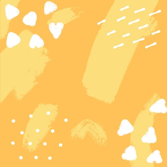 Vector yellow background with brush strokes.