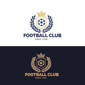 Логотип футбола, логотип футбола, логотип спортивной команды, vectortemplate