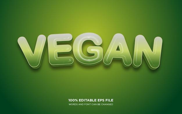 Vegan 3d editable text style effect