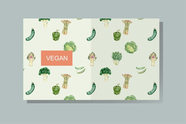 Vegan book cover vector