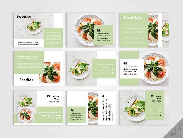 Vegan book layout green