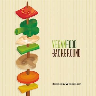 Vegan brochette background