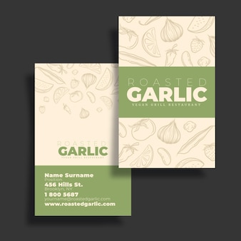 Vegan business card template