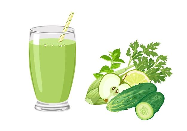 Веганский зеленый смузи для детоксикации.