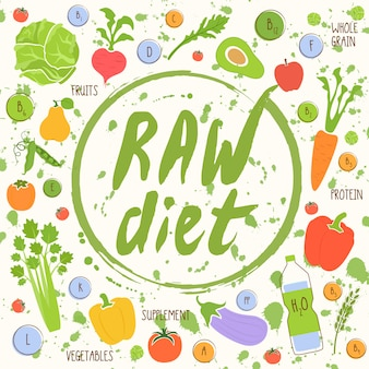 Vegan diet healthy food background