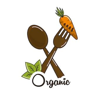 Vegan food icon stock