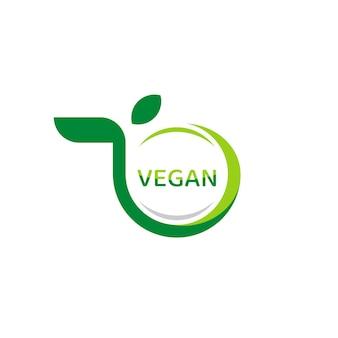 비건 식품 라벨, 원 잎 기호가 있는 유기농 로고