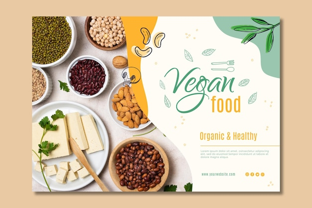 Vegan food landing page template