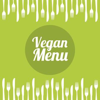 Веганская еда на зеленом фоне векторные иллюстрации