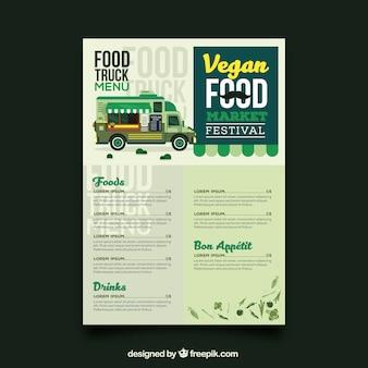Vegan food truck menu template