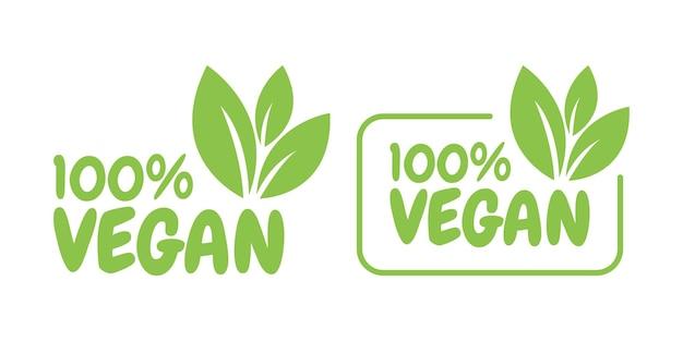 ビーガンフレンドリー、エコロジー、オーガニックのロゴとアイコン、ラベル、タグ。白い表面に緑の葉のアイコン。