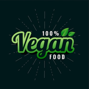 Vegan green food label