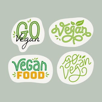 Vegan hand drawn lettering inspirational and motivational quote
