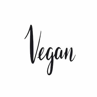 Vegan handwritten typography style vector
