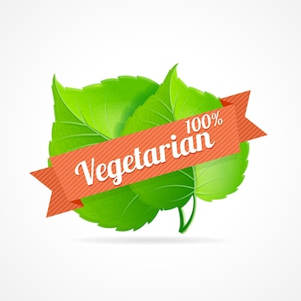 Vegan label. designation of vegetarian dishes in the restaurant menu and vegetarian products