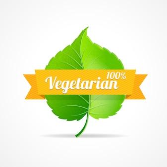ビーガンラベル100パーセントの菜食主義の製品の概念。レストランやショップに使用できます