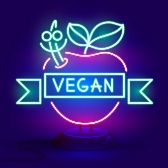 Vegan logo neon sign