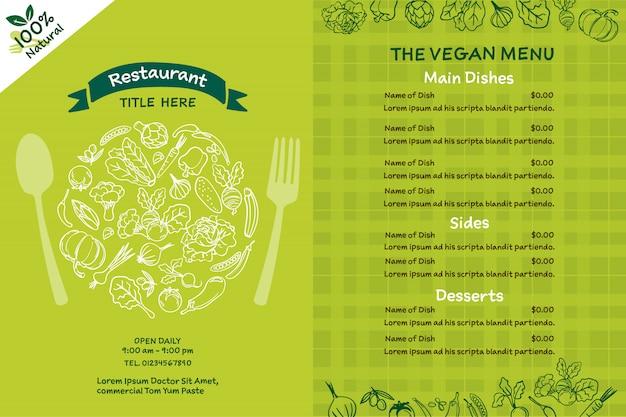 Вегетарианское меню органических продуктов.