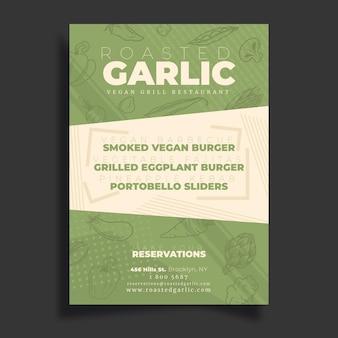 Vegan poster template