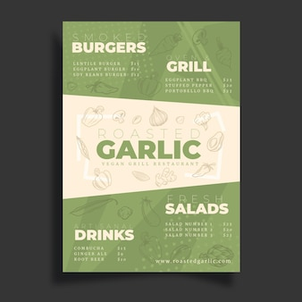Vegan poster template