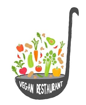 Vegan restaurant healthy food