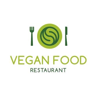 Vegan restaurant logo design