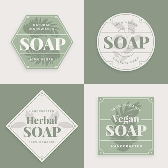 Vegan soap label collection
