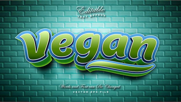 Vegan text effect
