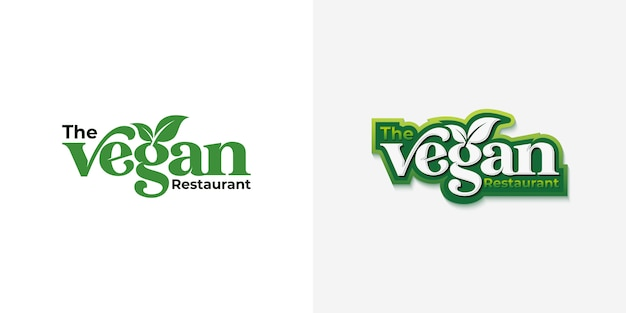Vegan typography logo design