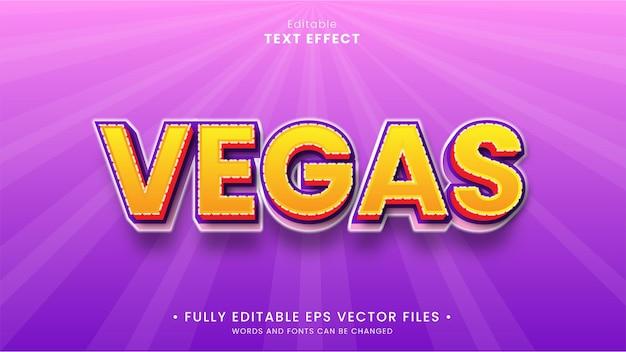 Vegas editable text effect