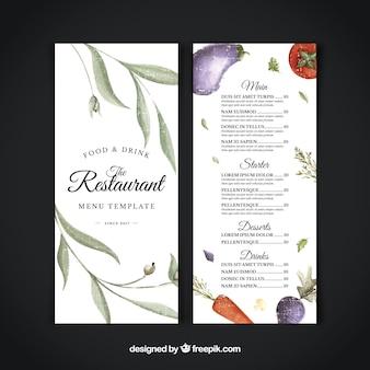 Vegatarian restaurant menu