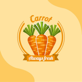 Vegetable carrot always fresh emblem