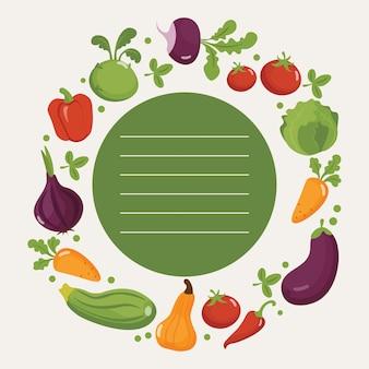 Vegetable food poster