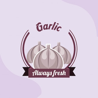 Vegetable garlic always fresh emblem