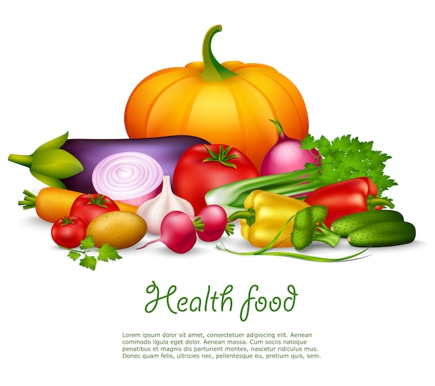 Vegetable healthy background