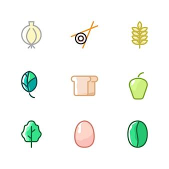 야채 재료 모음