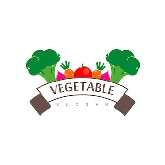 Vegetable logo design vector