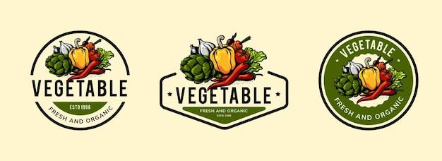 Vegetable logo template design