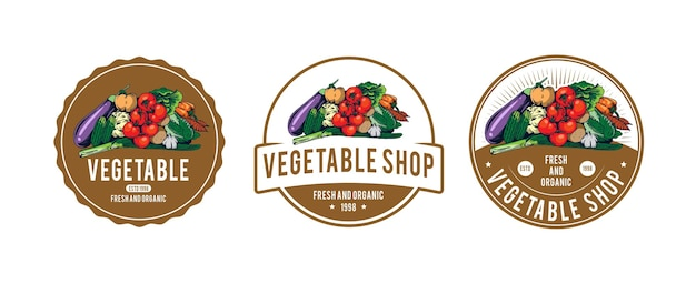 Vegetable logo template