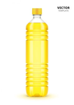 Vegetable oil bottle  isolated