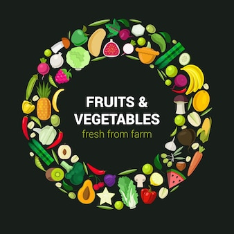 Vegetable ring farm fruit vegetable food collection